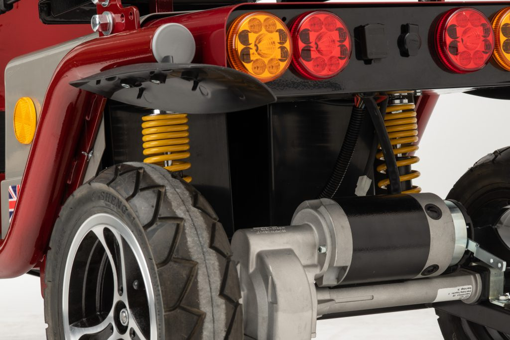 Close up of rear lights and rear suspension on series 3 saxon